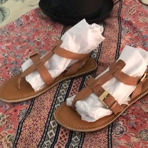 Franco Sarto leather t strap sandal, worn 3 times